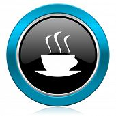 espresso glossy icon hot cup of caffee sign