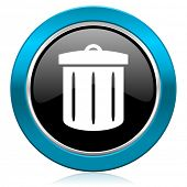 recycle glossy icon recycle bin sign