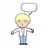 cartoon annoyed man