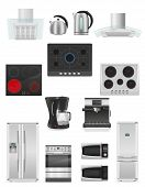 Set Of Kitchen Appliances Vector Illustration