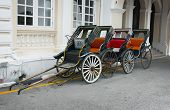 Classic, Hand Operated Rickshaws In Georgetown, Penang, Malaysia