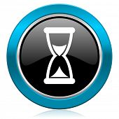 time glossy icon hourglass sign