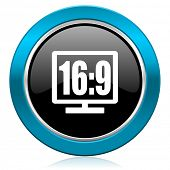 16 9 display glossy icon