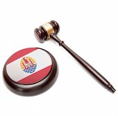 Judge Gavel And Soundboard With National Flag On It - French Polynesia