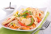 fried chinese noodles