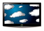 Lcd Tv Hang Clouds