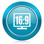 16 9 display blue icon