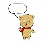cartoon waving bear cub