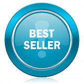 best seller blue icon