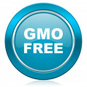 gmo free blue icon no gmo sign