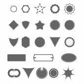 Vintage Vector Badge Shapes