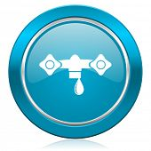 water blue icon hydraulics sign