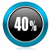 40 percent glossy icon sale sign