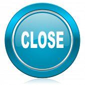 close blue icon