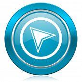 navigation blue icon