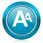 alphabet blue icon