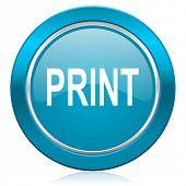 print blue icon