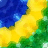 picture of carnival brazil  - Retro pattern made of hexagonal shapes - JPG