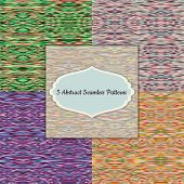 Set of bright seamless patterns.