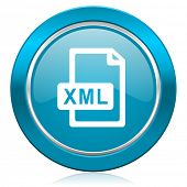 xml file blue icon