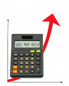 Calculator With Ascending Arrow