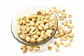 Plate With Tasty Pistachios And Peanuts