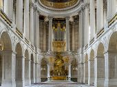 VERSAILLES, FRANCE - AUGUST 28 2013: Royal Chapel inside Versailles Palace, France