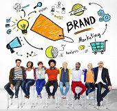 Diverse People Togetherness Friendship Team Marketing Brand Concept