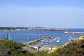 Sagres harbour on the Algarve Portugal