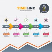 picture of fireball  - Timeline infographic with arrows - JPG