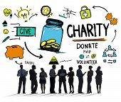 Business People Discussion Give Help Donate Charity Concept