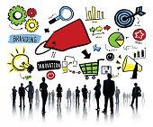 Business People Branding Team Marketing Corporate Concept