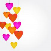 Valentines day  ornaments - colorful background