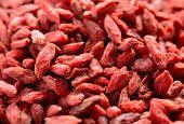 Background of Dried Red Goji Berries. Healthy Diet