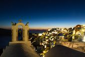 Village Of Oia During Twilight