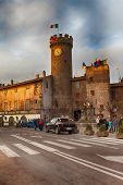 Main Square Of Bagnaia At Dusk Viterbo Italy