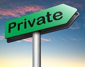 private and personal information big brother, banner for privacy protection and discretion of restricted info