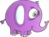 Insane Crazy Elephant Vector Illustration Art