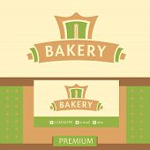 Vector logo for a bakery, macaroni factory. Vector logo for a bakery, macaroni factory.