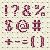 Cross stitch alphabet and number