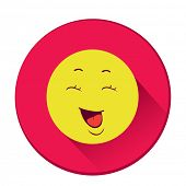 Smiley. Single flat color icon. Vector illustration.