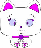 Darling cat for Your Desing on a white background.