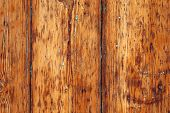 Texture of old wooden boards of brown color