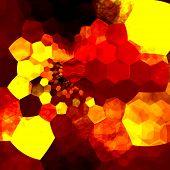 Abstract background mosaic. Orange yellow art design pattern. Messy unorganized geometric chaos.