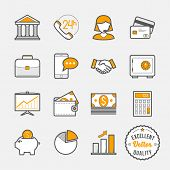 Banking icons // flat