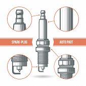 Spark-plug Auto Part