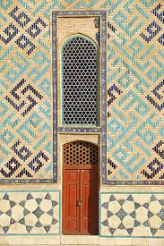 picture of sufi  - Exterior of the beautiful medieval mausoleum of the famous 12th century poet and sufi Khoja Ahmed Yasavi in Turkistan - JPG