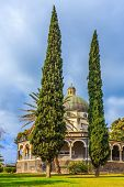 stock photo of beatitudes  - Catholic monastery and a small church Mount Beatitudes - JPG