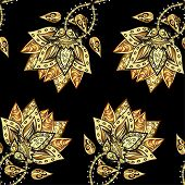 image of damask  - Abstract beautiful background - JPG