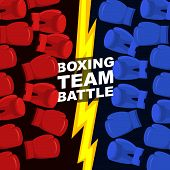 stock photo of battle  - Boxing team battle - JPG